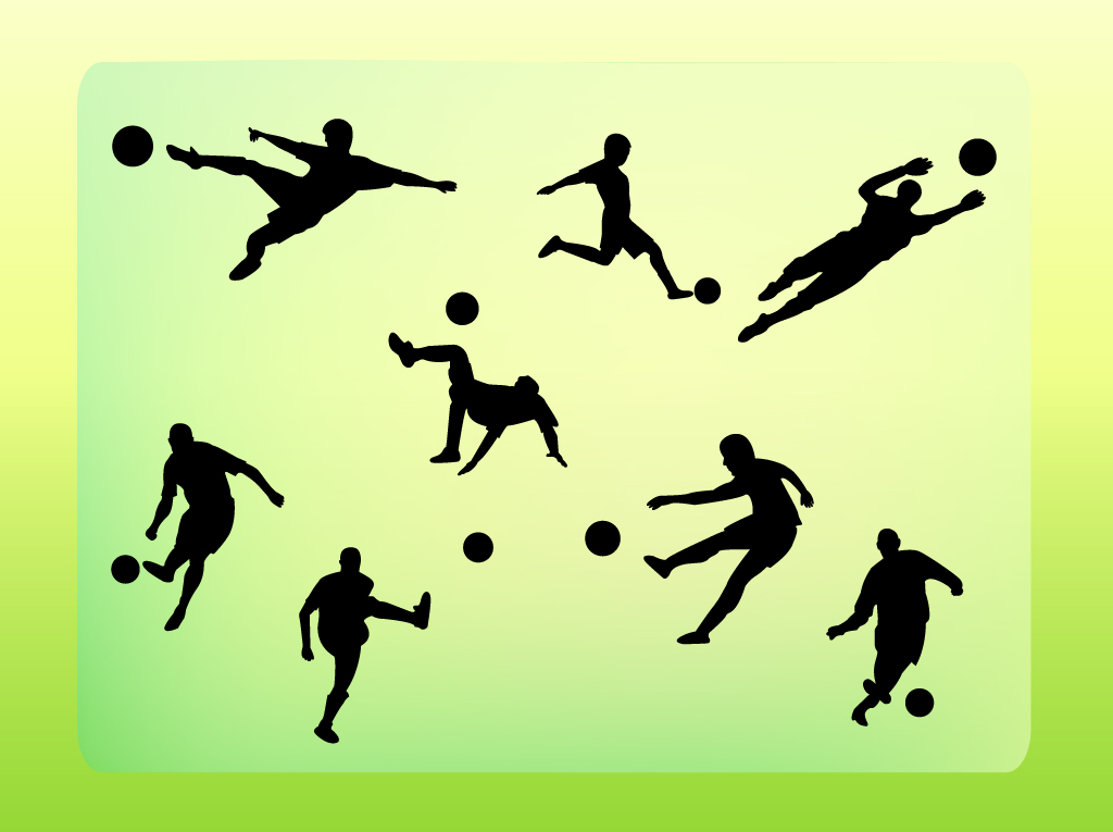 Soccer Ball Silhouette Vector Free Soccer Vector Silhouettes