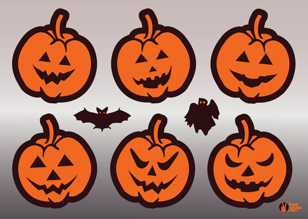 halloween pumpkins vector vector art & graphics | freevector