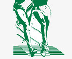 Running Legs Illustration