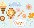 Flowers Sweets Vector