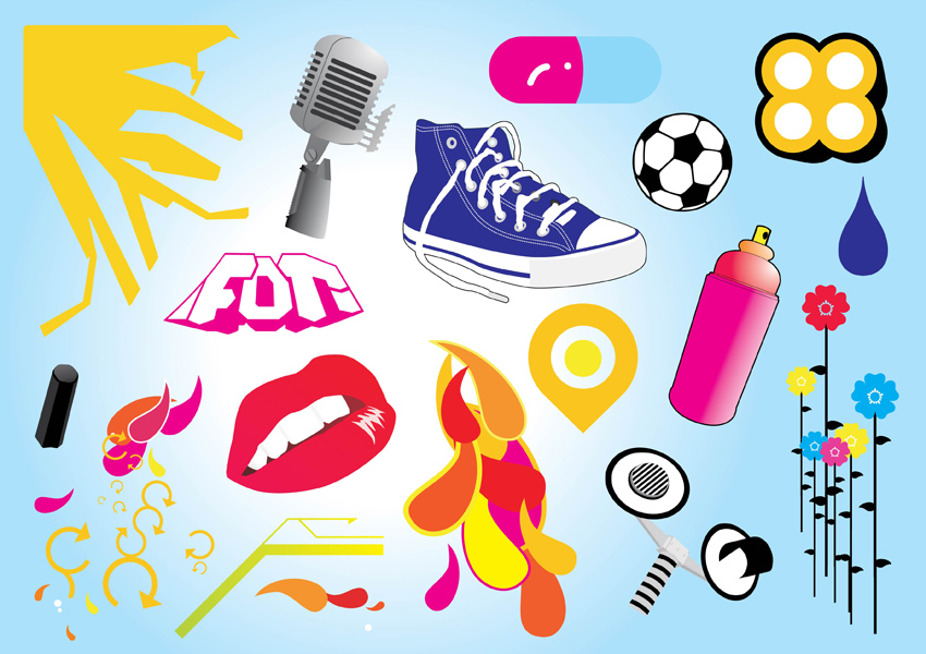 Graphic Design Vector Footage