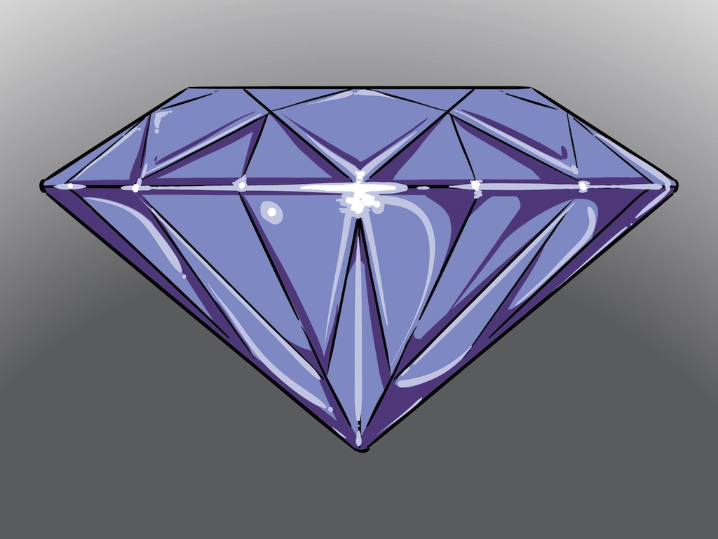 Diamond icon vector art graphics for Jewelry books free download