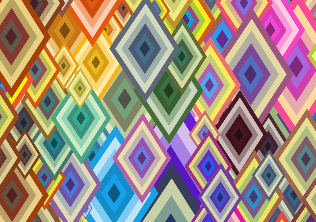 Free Colorful Geometric Wallpaper: Grasscloth Wallpaper