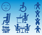 Blue People Icons