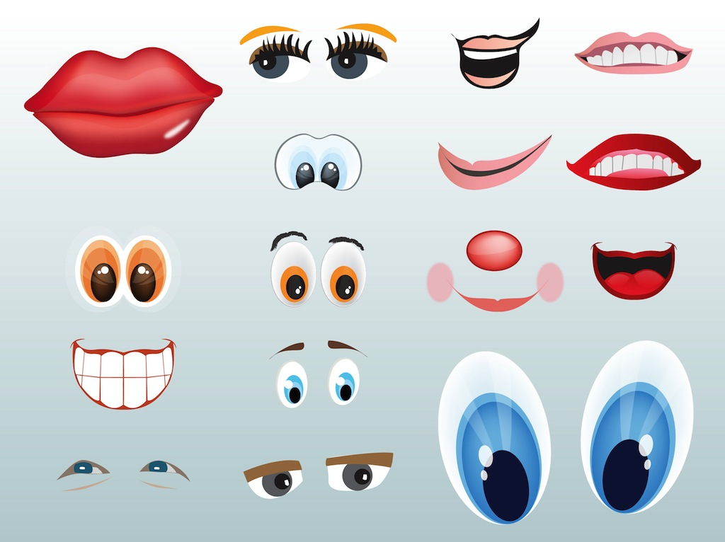 eyes and mouths vector art graphics freevector com rh freevector com Crazy Hair Day Clip Art Free Crazy Hair Day Clip Art Free