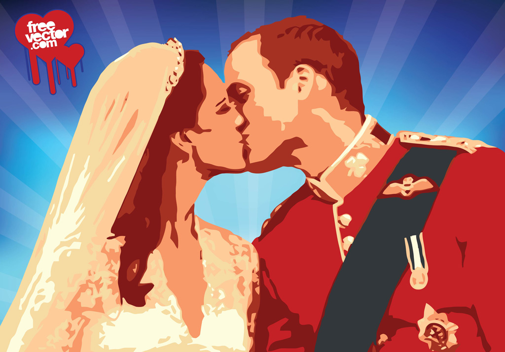 William Kate Kiss Vector