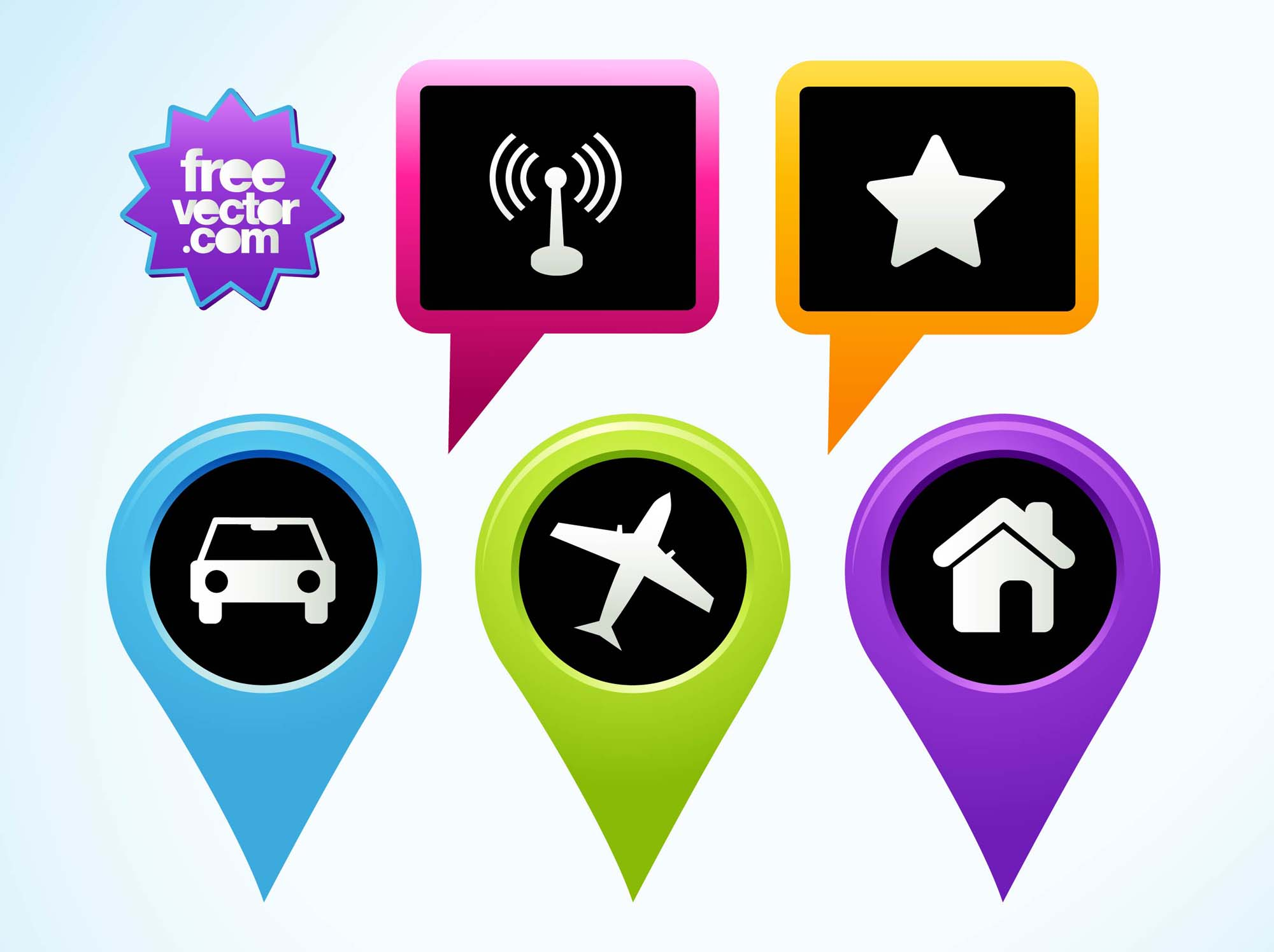 Free Google Maps Pointer Icon: Pointers Vector Art & Graphics
