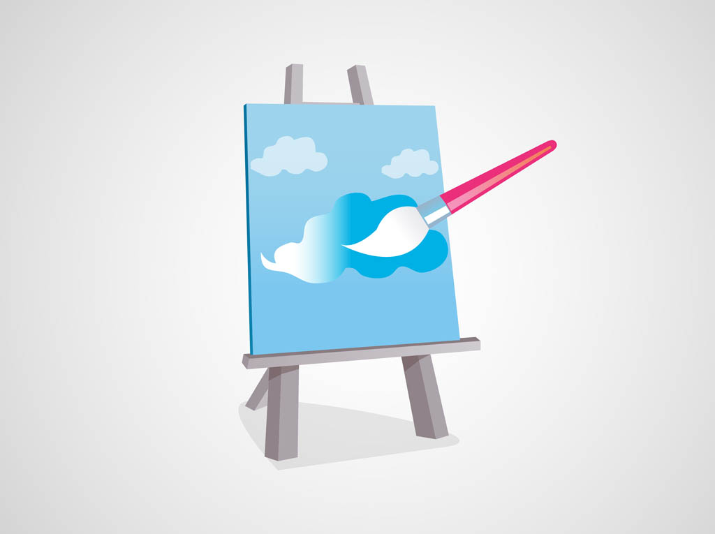Painting canvas vector vector art graphics for Paint and canvas
