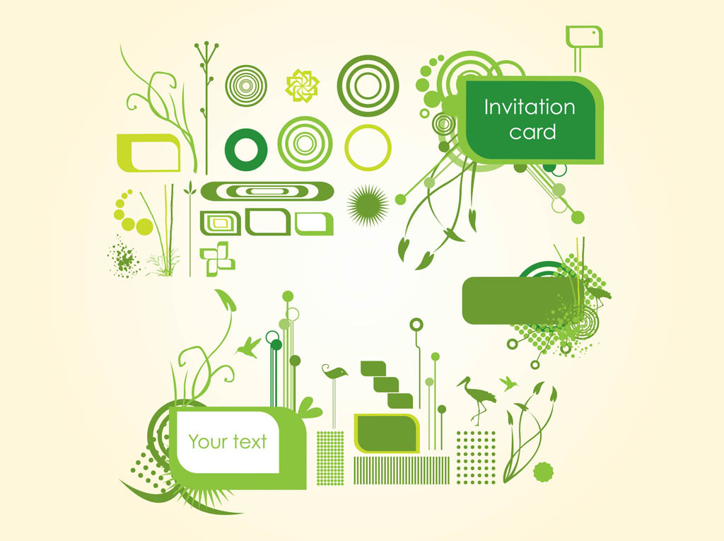 Organic Invitation Graphics