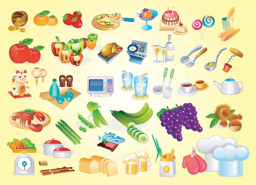 Cooking Vector Graphics