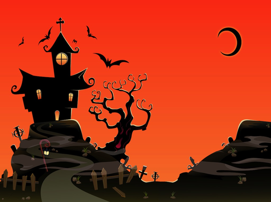 Haunted House Vector Art & Graphics | freevector.com