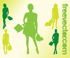 Shopping Girls Vectors