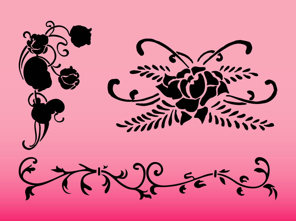 Flower Swirls Designs
