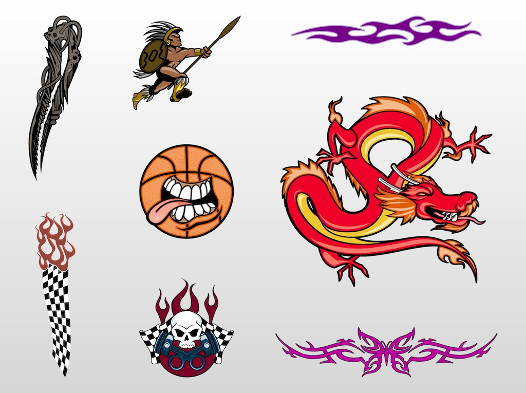 Cool Tattoo Designs Vector