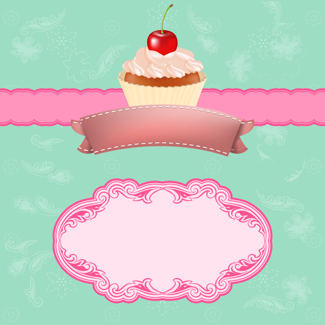 Vintage Cupcake Vector Background Vector Art & Graphics ...