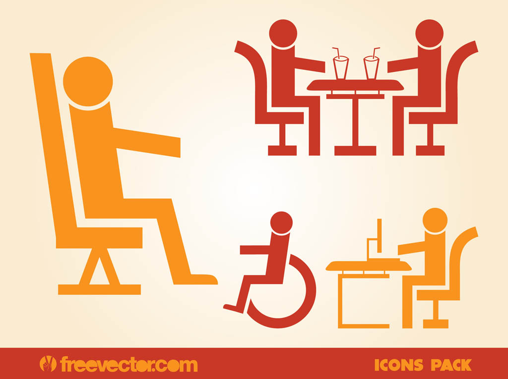 Sitting People Icons