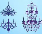 Antique Chandelier Silhouettes