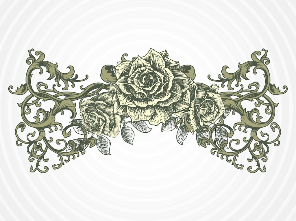 Antique Rose Vector