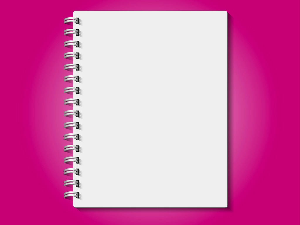 Free School Notebook Cover Vector : Realistic notebook vector art graphics freevector