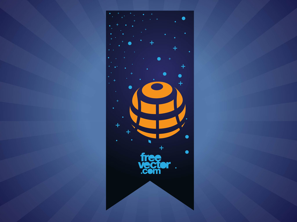 Space Banner Vector