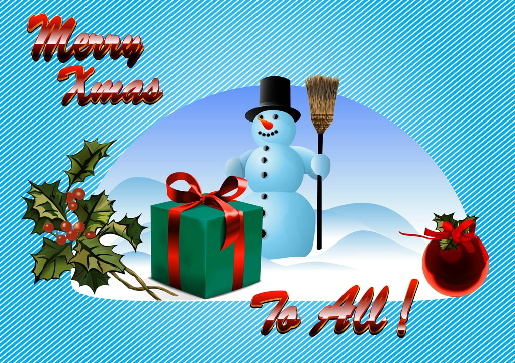 Merry Christmas Wishes Vector Art & Graphics | freevector.com