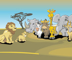 African Animals Cartoon