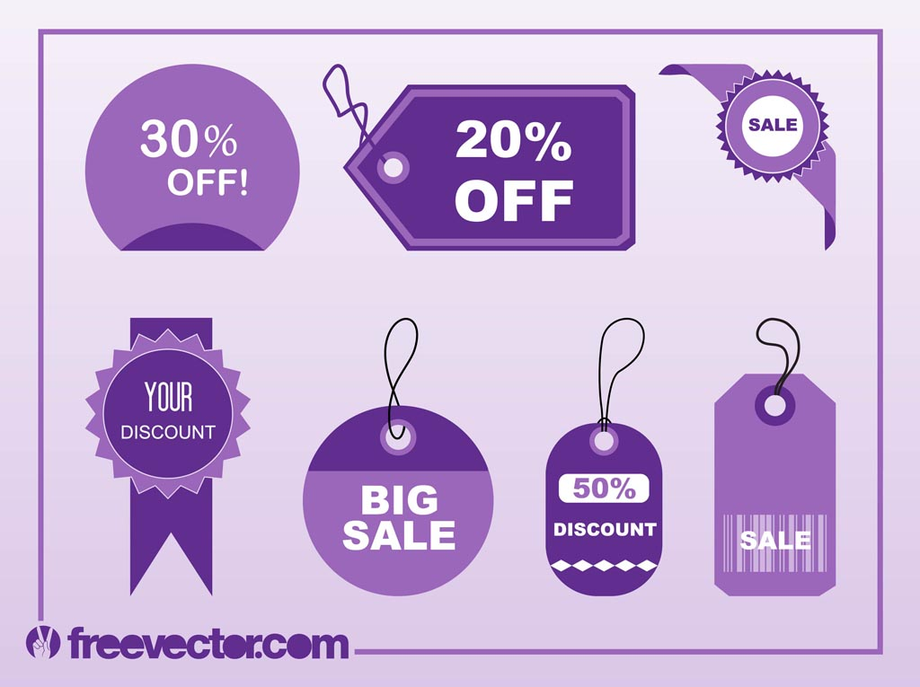 Shopping Tags Vectors