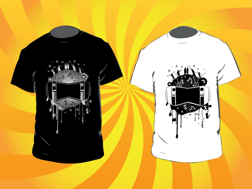 music t shirts vector art graphics. Black Bedroom Furniture Sets. Home Design Ideas