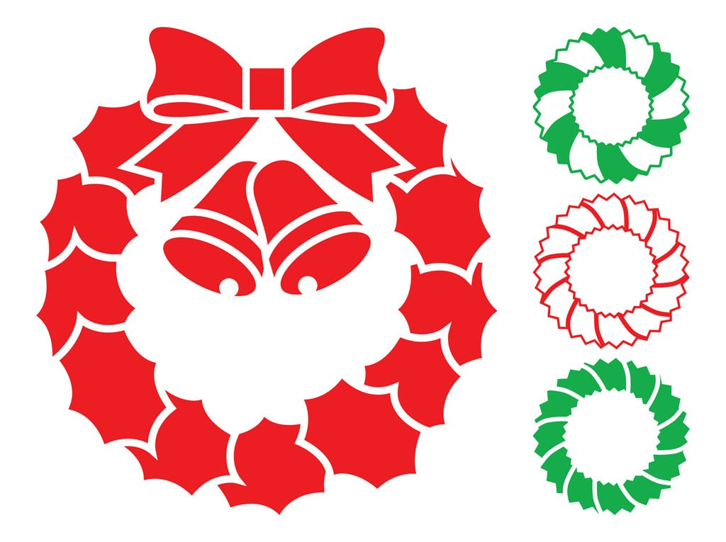 Christmas Wreath Vector.Christmas Wreaths Graphics Vector Art Graphics