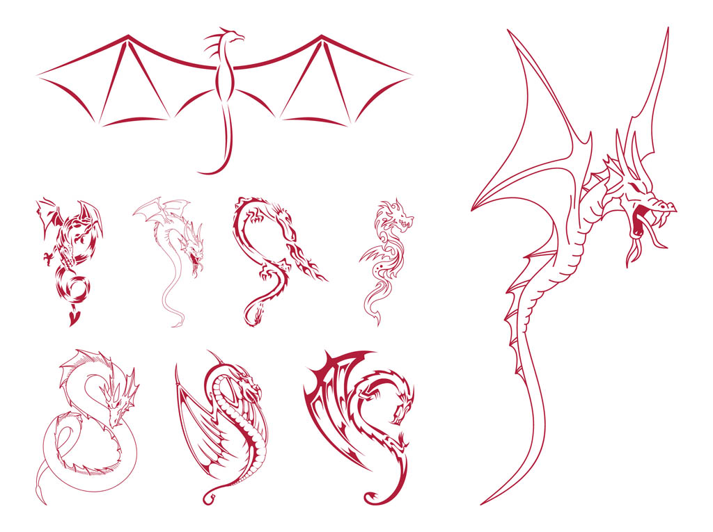 Dragon Outlines