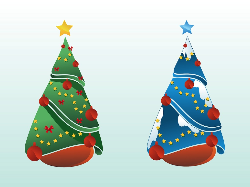 christmas trees vector design