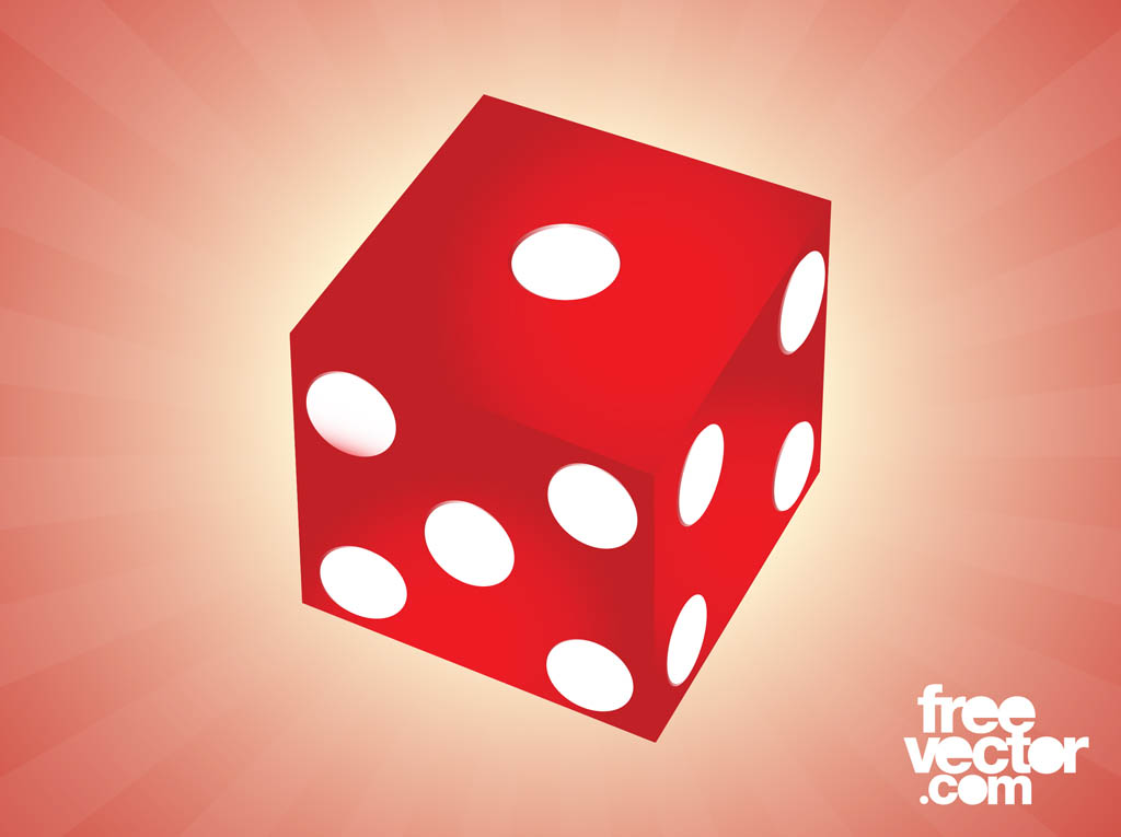 Red Die Vector