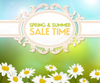 Spring and Summer Sale Background