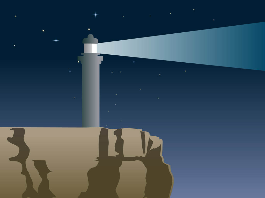 Lighthouse Vector Background