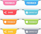 Colorful Free Vector Feedback Tags