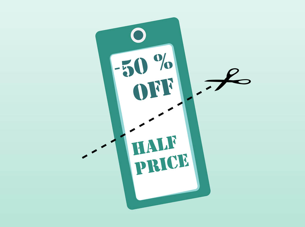 Discount Vector Label