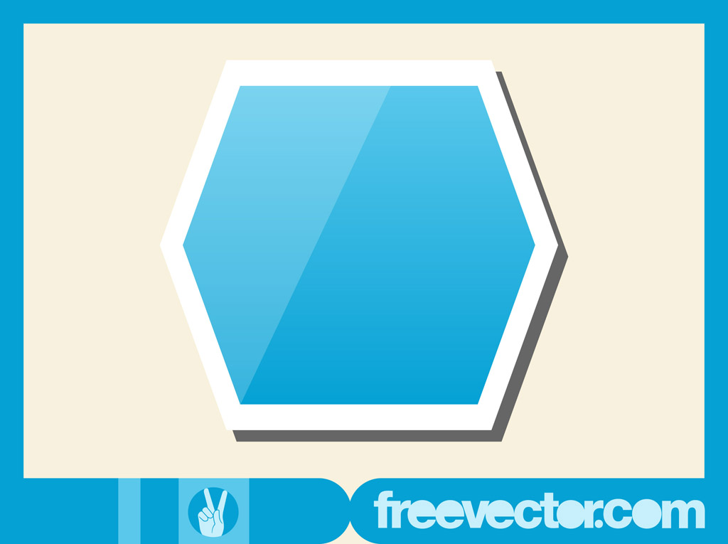 Hexagon Sticker