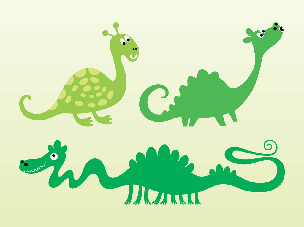 Cute Vector Dragons on baby mouth clip art