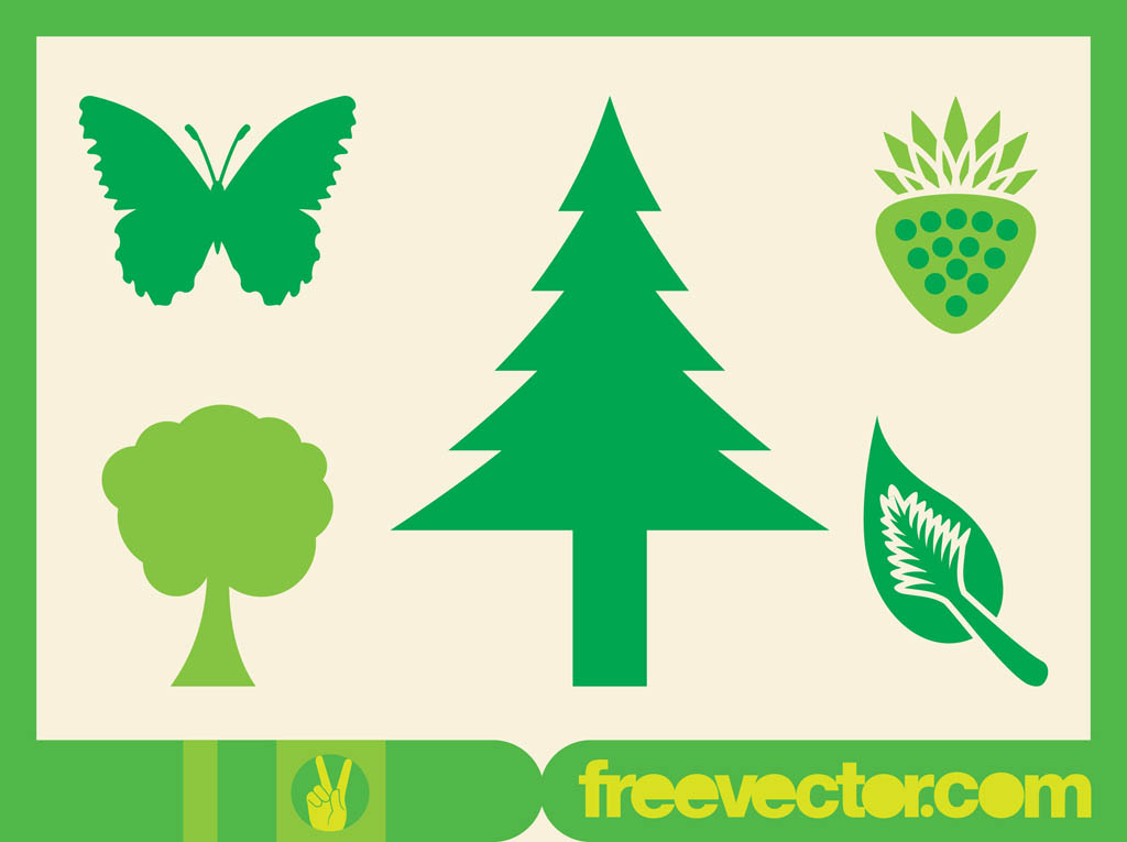 Green Nature Icons