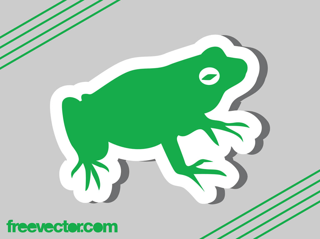Frog Sticker Vector Graphic