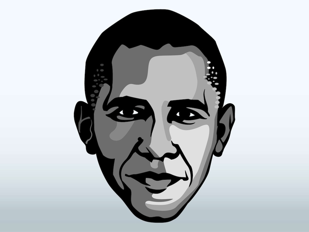 barack obama face vector art graphics freevector com rh freevector com vector facelift vector facebook icon