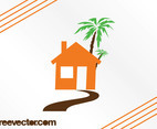 House And Palm Tree