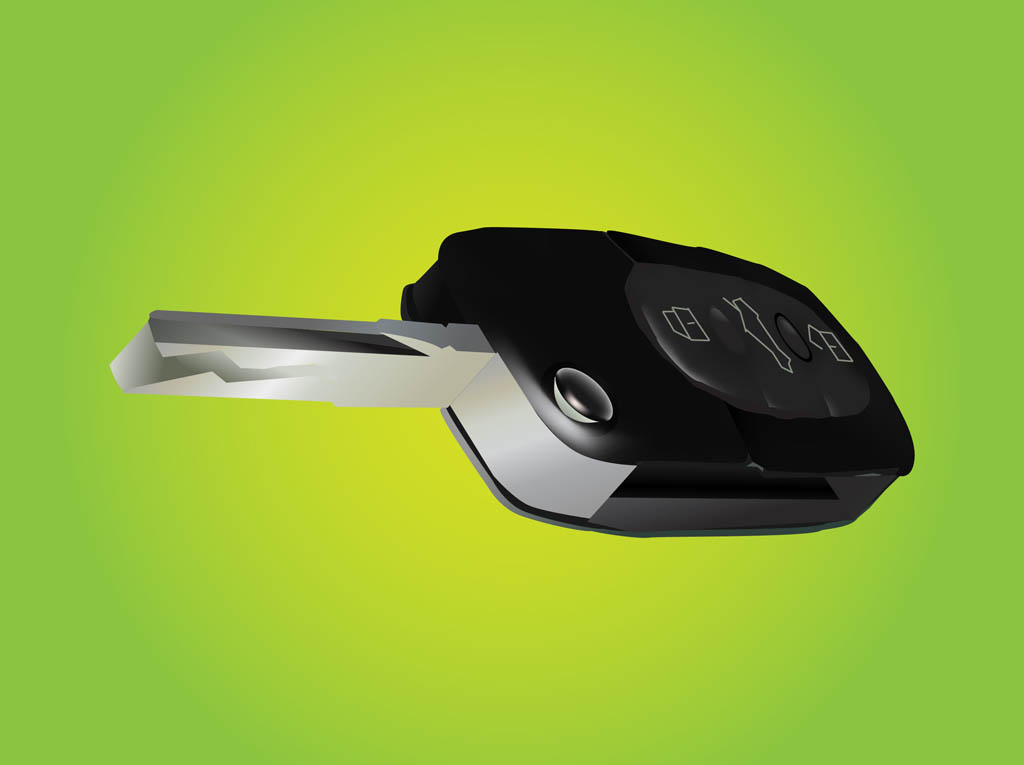 Realistic Car Key