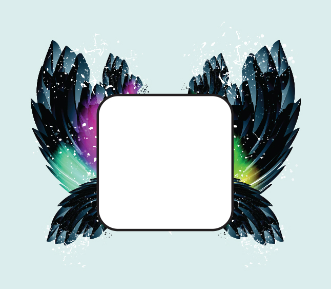 Feather Frame Vector