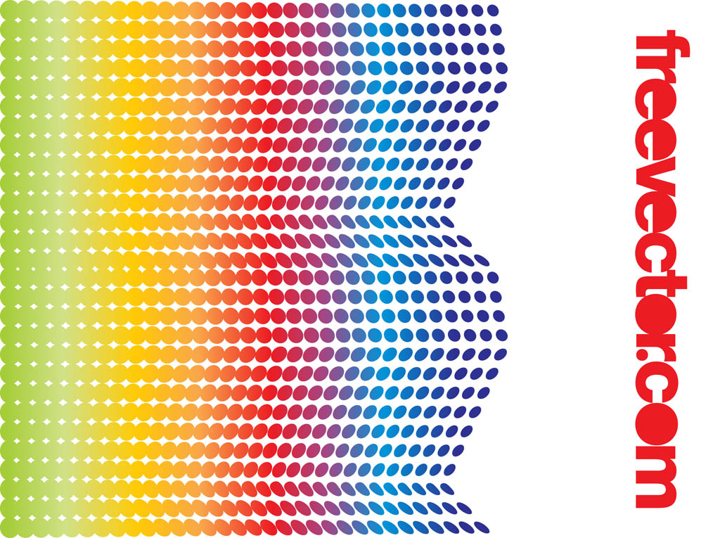 Rainbow Halftone Design