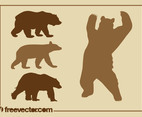 Bear Silhouettes Set