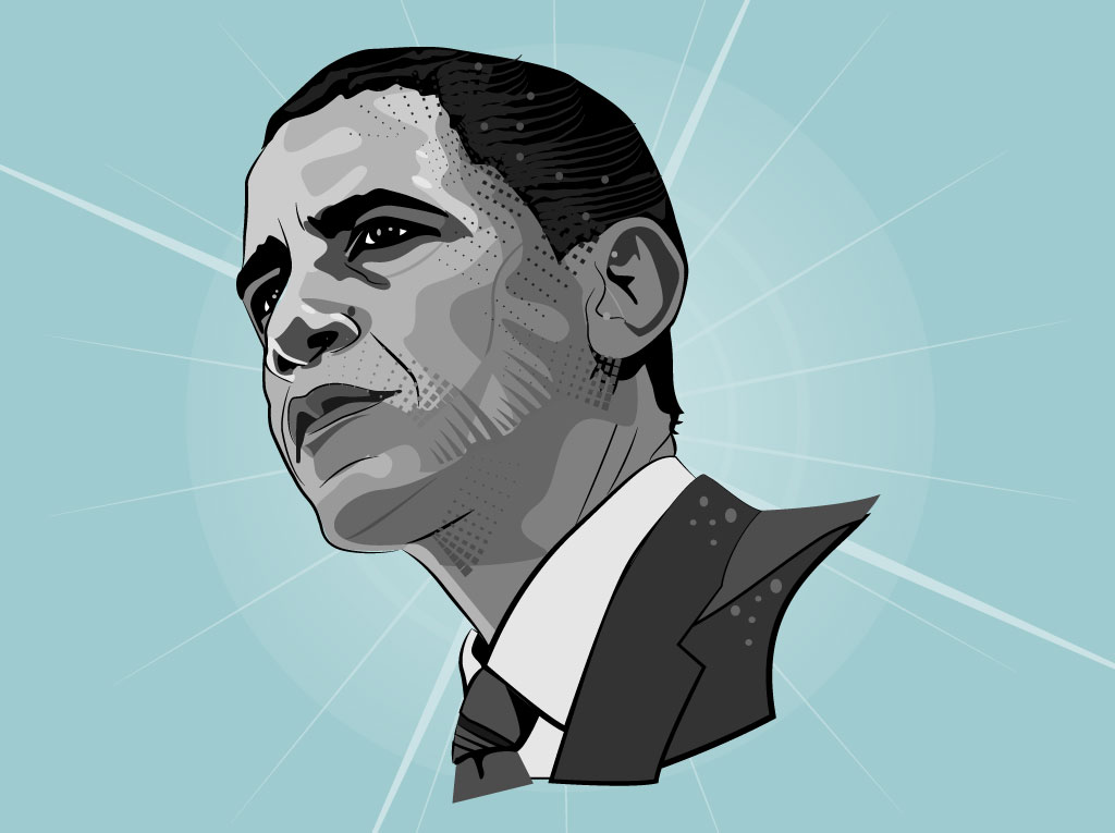 Barrack Obama Vector Portrait