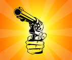 Pointing Gun Vector