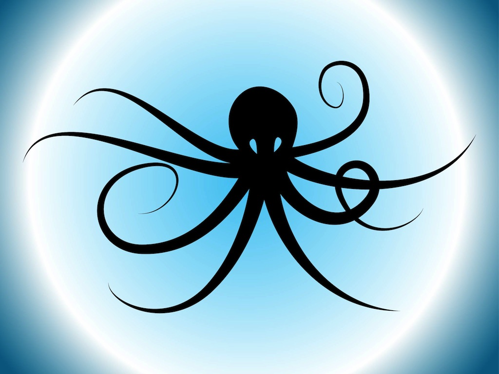 Octopus Silhouette Scary Tree Silhouette Clip Art