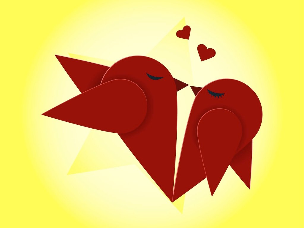 Kissing Birds